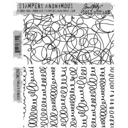 Timbro Cling Tim Holtz - Scribbles & Spirals