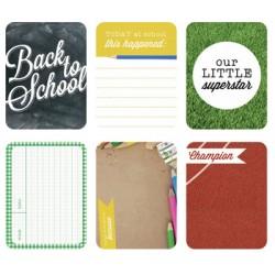 """Journal Cards Kaisercraft - 3x4"""" - School Days"""