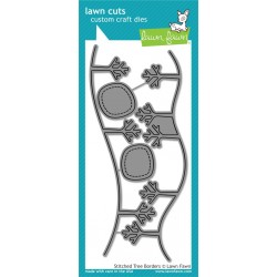 Fustelle Lawn fawn - Stitched Tree Border