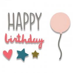 Fustella Sizzix Thinlits - Happy Birthday