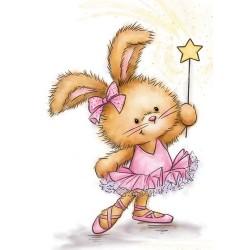 Timbro Clear Wild Rose - Bunny Ballerina