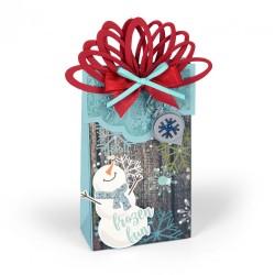 Fustella Sizzix Bigz XL - - Bag w/Layering Flaps & Seasonal Tags
