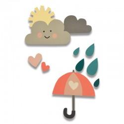 Fustella Sizzix Thinlits - Rainy Days & Sunshine 2