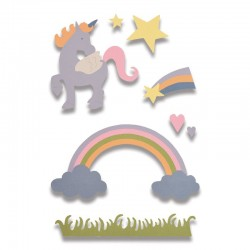 Fustella Sizzix Thinlits - Magical Unicorn