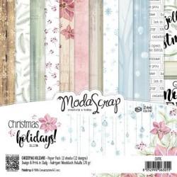 Pad Carte 15x15cm ModaScrap - Christmas Holidays