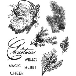 Timbro Cling Tim Holtz - Christmas Classic