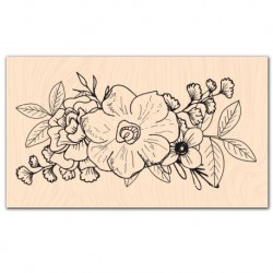 Timbro legno - Les Ateliers de Karine - Trio de fleurs