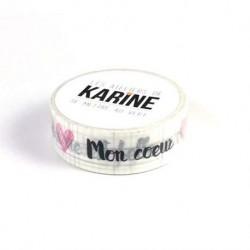 Washi tape-Karine Cazenave-Tapie - Tape bleu marine