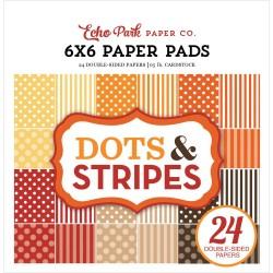 "Paper Pads 6""X 6"" Echo Park  - Dots & Stripes - Fall"