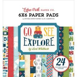 "Paper Pads 6""X 6"" Echo Park  - Go See Explore"