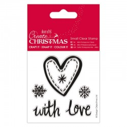 Timbro clear Docrafts - Christmas Heart