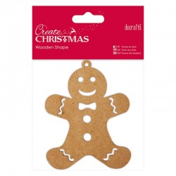 Abbellimenti in legno Docrafts - Gingerbread Man