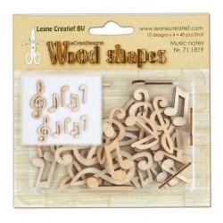 Abbellimenti in legno Leane Creatief - Music Notes