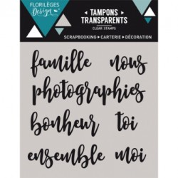 Timbro clear Florileges - Petit mots 1