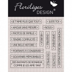 Timbro clear Florileges - Mots précieux