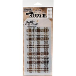 Stencil Tim Holtz - PLAID
