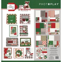 Kit carte PhotoPlay - PLAID CHRISTMAS -CARD KIT