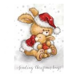 Timbro Clear Wild Rose - Bunny Hugs