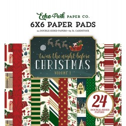 """Paper Pads 6""""X 6"""" Echo Park  - Twas the Night Before Christmas vol. 1"""