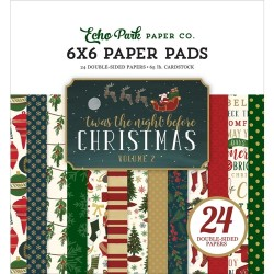 """Paper Pads 6""""X 6"""" Echo Park  - Twas the Night Before Christmas vol. 2"""