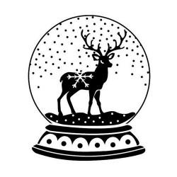 Timbro Legno Aladine - Sfera di Vetro con Neve