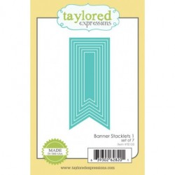 Fustella Taylored Expressions - Banner Stacklets 1