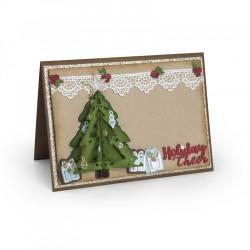 Fustella Sizzix Thinlits - Christmas tree, flip & fold