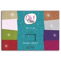 Blocco di fogli di carta 16 x 11 cm Toga - Assortimento Glitter