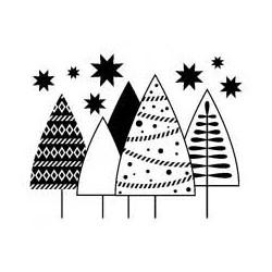 Timbro Legno Artemio - Alberi di Natale