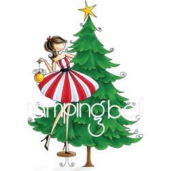 Timbro Cling StampingBella - Tina Trims the Tree