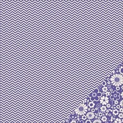 Cartoncino american craft - Purple chevron