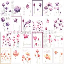 Alexandra Renke - Collezione Natur - Designpaper 'Card sheet tulips international'