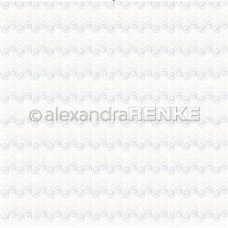 Alexandra Renke - Designpaper 'Snail design, gold/blue'