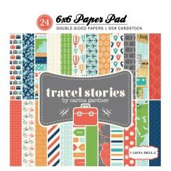 Carta Bella 6x6 aper Pad - Travel Stories