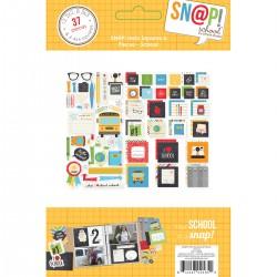 Die Cuts - Simple Stories - School Squares & Pieces