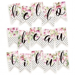PIATEK13 - Hello Beautiful - Paper die cut garland - Hello Beautiful