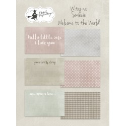 PIATEK13 - Welcome to the World - Set of journaling cards 6x4""