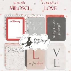 """PIATEK13 - Colors of Love - Set of journaling cards 3x4"""""""