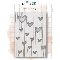 Embossing Folder 'LIGNE DE COEURS' - DIY & Cie