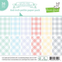 """Lawn Fawn - Gotta Have Gingham - PAPER PAD 6X6"""""""