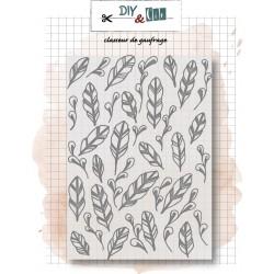 Embossing Folder 'PLUMES' - DIY & Cie