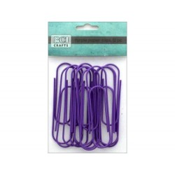 Jumbo Metal Paper Clips - BCI Crafts - Purple