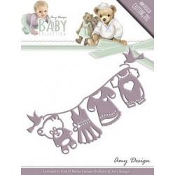 Fustella Amy Design - Baby Die Clothesline