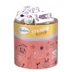 Confezione Mini Timbri Cling Aladine - Love summer