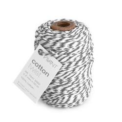 Corda in cotone Twist Vivant - Grigio / bianco