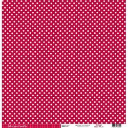 Cartoncino petits pois - Rouge