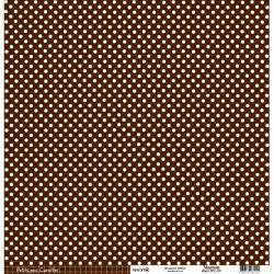 Cartoncino petits pois - Marron