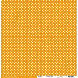 Cartoncino petits pois - Orange