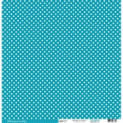 Cartoncino petits pois - Turquoise