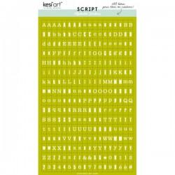 Alfabeto sticker kesi'art - Verde